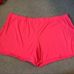 Neon pink active shorts